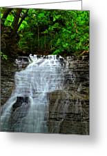 Cascading Falls Greeting Card by Frozen in Time Fine Art Photography
