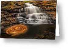 Cascading Swirls Greeting Card