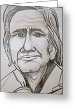 Cash Caricature Greeting Card by Pete Maier