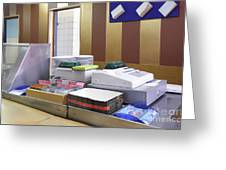 Cashier Desk Greeting Card