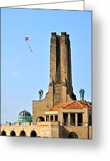 Casino Building And Kite Greeting Card