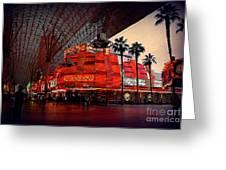 Casino Fremont Street Las Vegas Greeting Card by Susanne Van Hulst