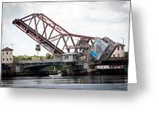 Cass St. Bridge Tampa Greeting Card