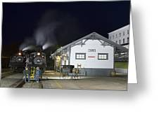 Cass Station At Night Greeting Card