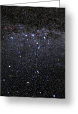 Cassiopeia And Andromeda Constellations Greeting Card by Eckhard Slawik