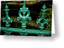 Cast Iron Fence Top 2  Greeting Card