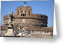 Castel Saint Angelo On The River Tiber. Rome Greeting Card