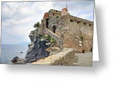 Castello Della Dragonara In Camogli Greeting Card by Joana Kruse