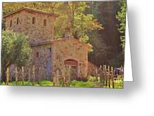 Castillo De Amoroso Farmhouse Napa Valley Greeting Card by George Sylvia