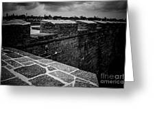 Castillo De San Marco Walls Greeting Card