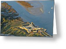 Castillo De San Marcos In St Augustine Florida - Aerial Photo Greeting Card