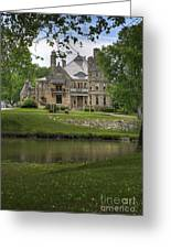 Castle Across River Greeting Card
