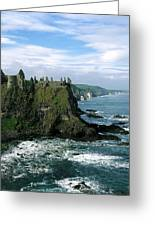 Castle At The Seaside, Dunluce Castle Greeting Card
