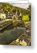 Castle Combe Bridgeside Greeting Card