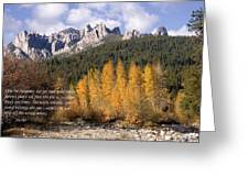 Castle Crags Autumn Greeting Card