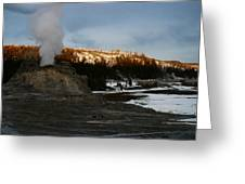 Castle Geyser Yellowstone National Park Greeting Card
