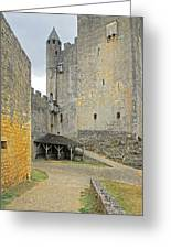 Castle Interior Ground France Greeting Card