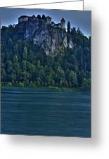 Castle Of Lake Bled Greeting Card