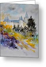 Castle Of Veves Belgium Greeting Card