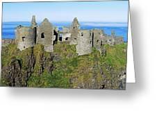 Castle On A Cliff, Dunluce Castle Greeting Card