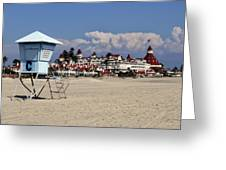 Castle On The Beach Greeting Card