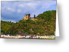 Castle On The Rhine Greeting Card