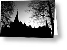 Castle Silhouette Greeting Card by Semmick Photo