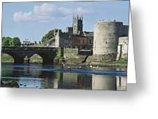 Castles, St Johns Castle, Co Limerick Greeting Card
