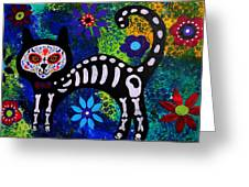 Cat Day Of The Dead Greeting Card