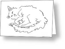 Cat-drawings-black-white-1 Greeting Card