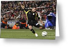 Catalan Player Shooting Greeting Card