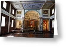 Cataldo Mission Altar And Interior Greeting Card