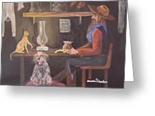 Catfish And Nugget Greeting Card by Janna Columbus