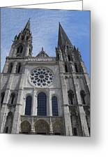 Cathedral At Chartres Greeting Card