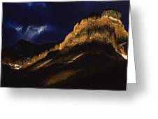 Cathedral Crags At Dusk, Yoho National Greeting Card