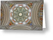 Cathedral Dome Interior, Close Up Greeting Card