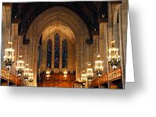 Cathedral In Chicago Greeting Card