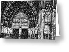 Cathedral In The Snow Panorama Greeting Card