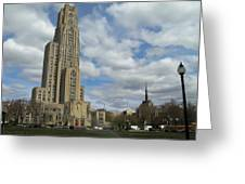 Cathedral Of Learning Pittsburgh Greeting Card