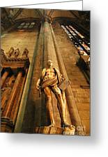 Cathedral Statue Milan Italy Greeting Card