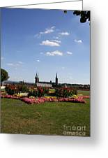 Cathedrale And Cloister Garden Greeting Card