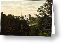 Catholic Church In Kiev - Ukraine - Ca 1900 Greeting Card