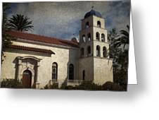 Catholic Church Old Town San Diego Greeting Card