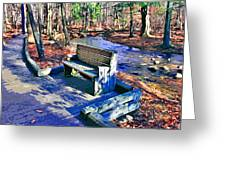 Catoctin Bench Greeting Card