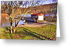 Catoctin Lake Boathouse Greeting Card