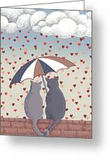 Cats In Love Greeting Card