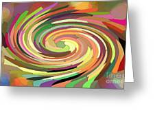 Cat's Tail In Motion. Stained Glass Effect. Greeting Card