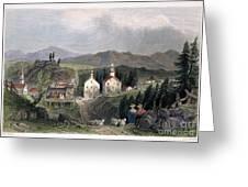 Catskill Village, 1839 Greeting Card