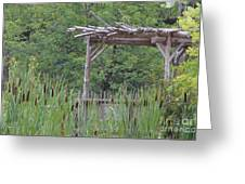 Cattails In The Garden Greeting Card