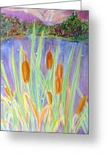 Cattails Greeting Card